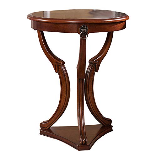 - XIAOYAN End Table European Side Table Solid Wood Sofa Side Table Small Coffee Table Creative Round Table-49.549.563.5CM Multifunction