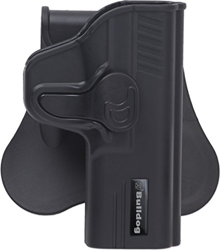 (Bulldog Cases Rapid Release Polymer Holster (Fits S&W, M&P Shield), Black)
