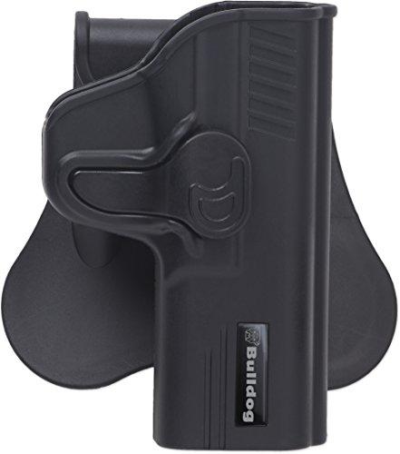 Bulldog Cases Rapid Release Polymer Holster, Black (Fits Glock 17, 22, 31 Gen 1,2,3,4,5)