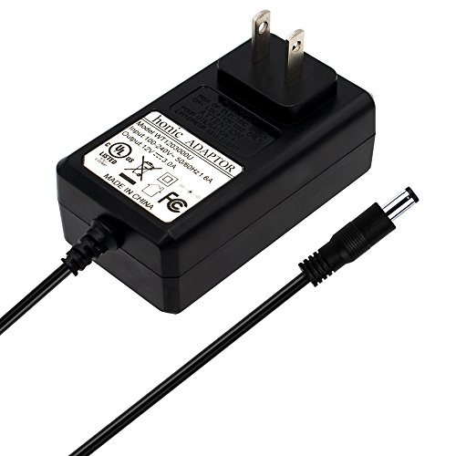 [UL Listed] Honic 12V 3A 36 Watt AC DC Power Supply Adapter (Input 100-240V, Output 12 Volt 3Amp 36W) for CCTV Security Camera, Led Strip Lights, DVR, NVR, XVR, Black, US Plug