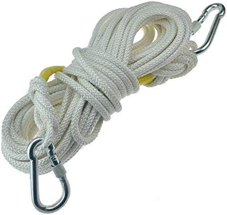 9ミリメートルクライミングロープ、屋外安全ロープライフライン火災速度ドロップエスケープロープ。,10m