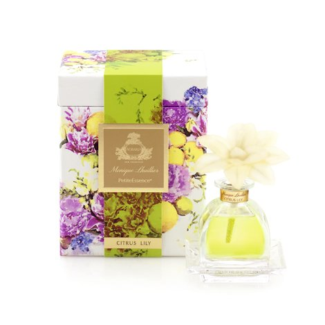 AGRARIA PetiteEssence Luxury Fragrance Diffuser Citrus Lily Scent, Includes 1 Sola Flowers and 7 Reeds