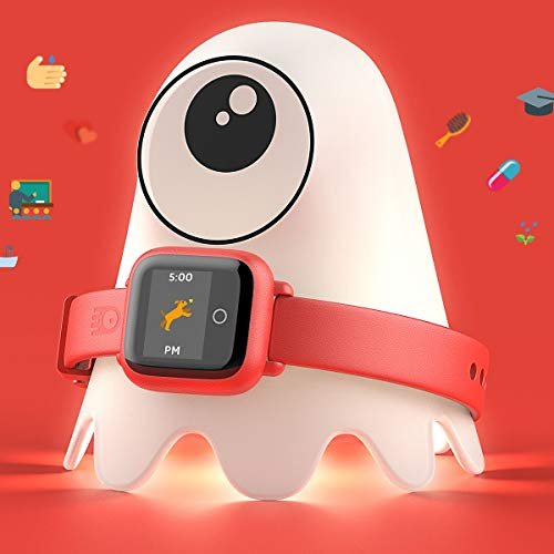 (New - Octopus Kids Smart Watch v2 - Red - Plan Activities, Responsibilities and Healthy Habits - Fitness Tracker and Electronic Daily Schedule - Night Light Included)