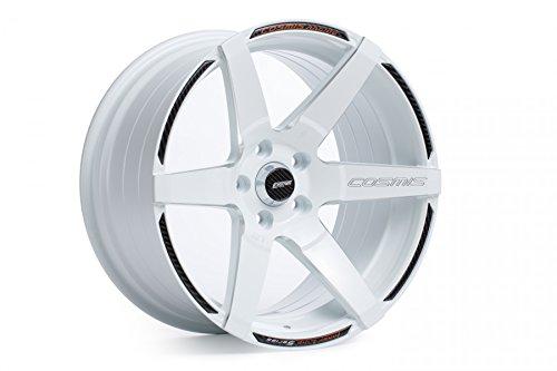 Racing 5 Spoke (COSMIS RACING WHEELS S1 WHITE W/ MILLED SPOKES 18X9.5 +15MM 5X114.3 WHEEL SET)