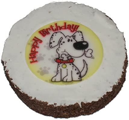 Super Hatchwell Dog Birthday Cake Size 4In Dia By 3 4In Thick Amazon Funny Birthday Cards Online Alyptdamsfinfo