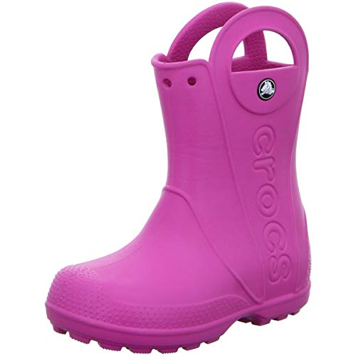 Fuchsia Rubber Wellies - Crocs Kids' Handle It Rain Boot - 12803 Fuchsia