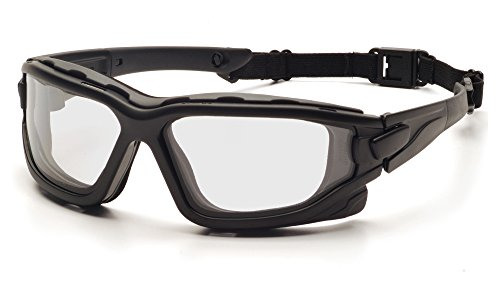 Pyramex I-Force Slim Safety Goggle, Black Frame/Clear Anti-Fog ()