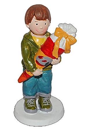 Unbekannt 3 D Figur Junge Mit Schultute 9 5 Cm Tischdeko Aus