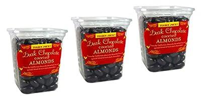 Trader Joe's Dark Chocolate Almonds Crunchy California Almonds Drenched in Rich Dark Chocolate - No Gluten or Sodium