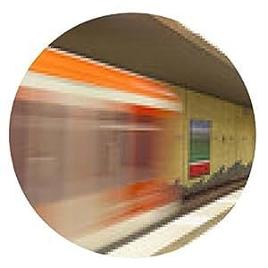 alfombrilla de ratón estación de metro con el tren en movimiento - ronda - 20cm