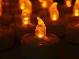 TMS 75 Flickering Light Flameless LED Tea Light Wedding Party Home Decor Tea Candle