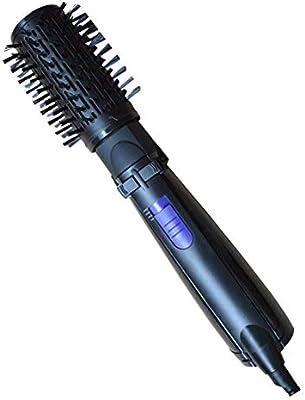 Secador de pelo plancha de pelo multifunción iones negativos aire caliente hélice cepillo suave herramientas de peluquería (Enchufe europeo)
