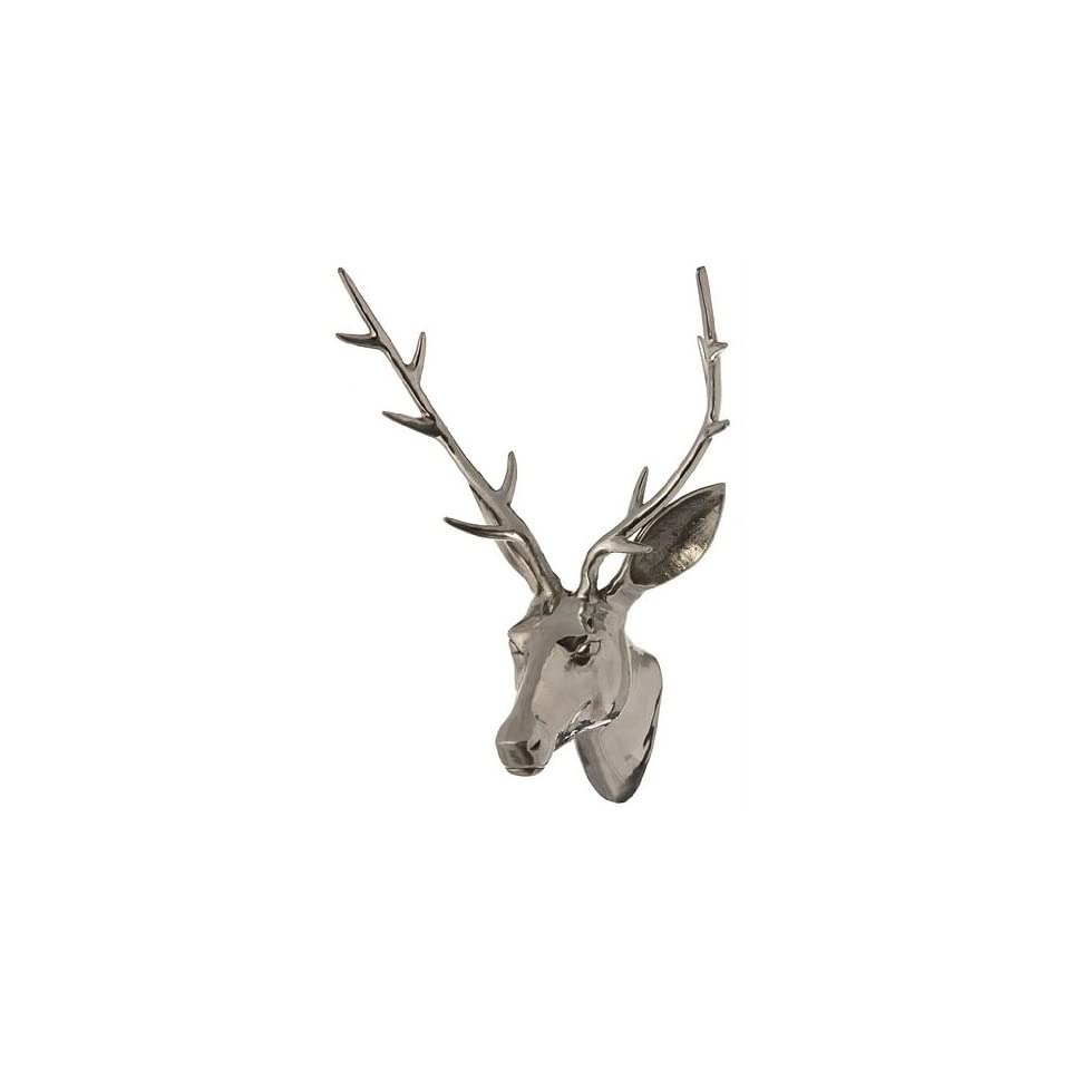 Rudolph the Polished Aluminum Deer Stag Head   Wall Mount Trophy Gift