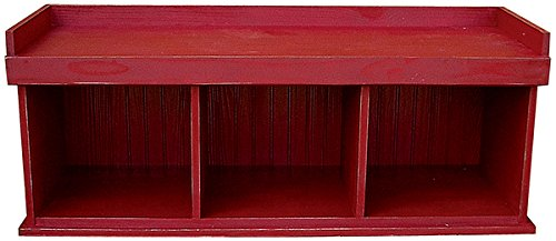 Sawdust City 50 in. Cubby Bench44; Antique Turquoise