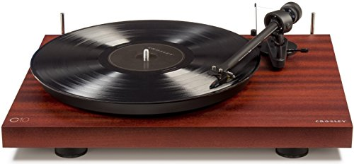 Crosley C10A-MA Hardwood Turntable with Low Vibration Synchronous Motor, Mahogany by Crosley