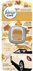 ONLY 1 IN PACK Febreze Car Vent Clip Air Freshener, Toasted Almond, 1 Count by Febreze