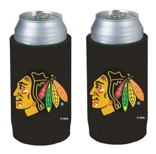 NHL ホッケー チームロゴ ウルトラスリム 12オンス ネオプレン ビール缶ホルダー スリーブ 2個パック