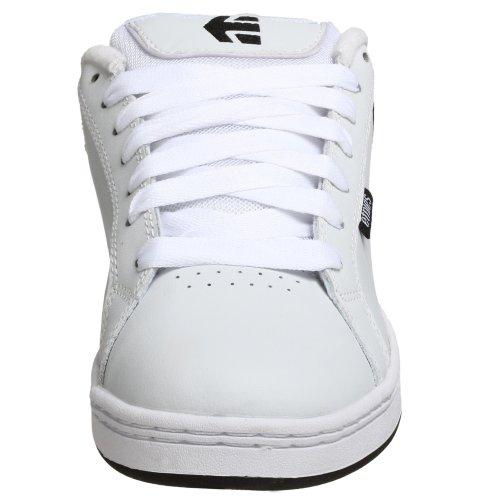 Etnies Mens Fader Skate Shoe White/White/Black xe32F