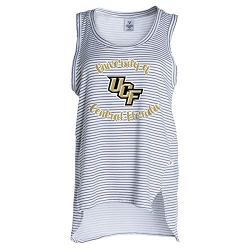Official NCAA UCF Knights - Women's Loose Fit Stretchy Striped Tank -