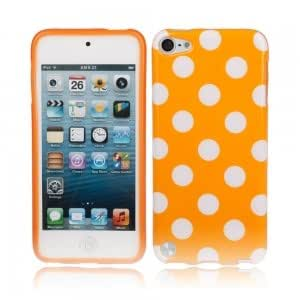 Gorgeous TPU Back Cover Case for iPod Touch 5 Orange Bottom White Point