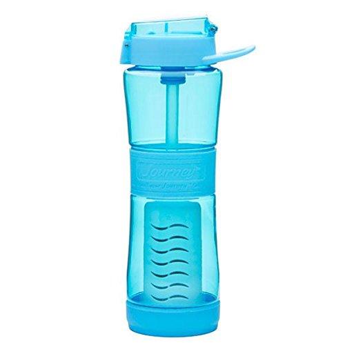 Journey Water Purifier (Portable Water Purifier Filter Bottle, 250 Gallon Filter, Travel Bottle, 24oz Capacity, Virus Tested, Everyday Drink Bottle, BPA Free, Emergency Preparedness Survival Replaceable Filter, Blue by Sagan)