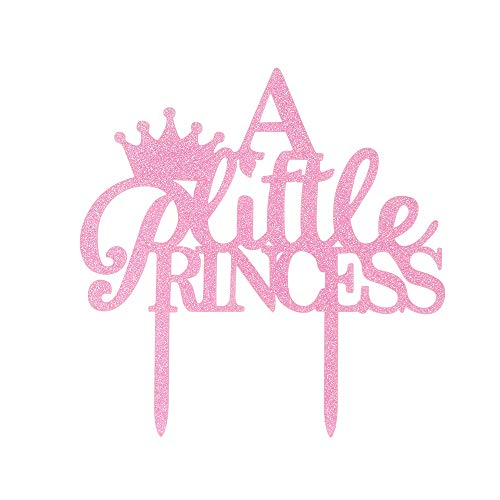 A Little Princess Crown Cake Topper, Happy Birthday Baby Shower, Gender Reveal Party Decoration ()