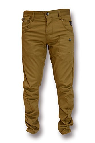 Crosshatch - Jeans - Homme Bleu bleu marine 37W x 28L -  Marron - taille-34 taille-court