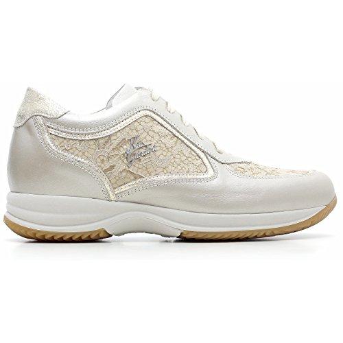 Negro Giardini–Sneaker Mujer de Piel y tela, primavera/verano p615126d-505 Savana