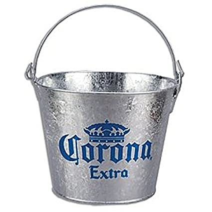 Corona Extra Galvanized Beer Bucket