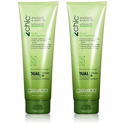 Giovanni 2chic Avocado & Olive Oil Ultra-moist Shampoo, 8.5 Fluid Ounce | 2-Pack