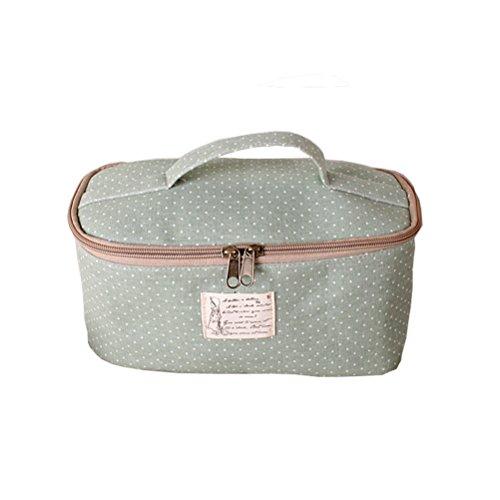 Fieans Multifunktionsreise Kosmetik Make up Bag Organizer Waschbeutel Kulturtasche Kosmetiktasche Aufbewahrungstasche für Frauen Dame Girl-Grün