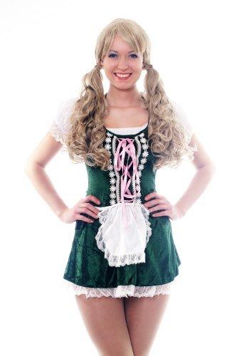 Disfraz para mujer traje vestido: traje verde típico chica camarera alemana Oktoberfest Baviera Alemania L032