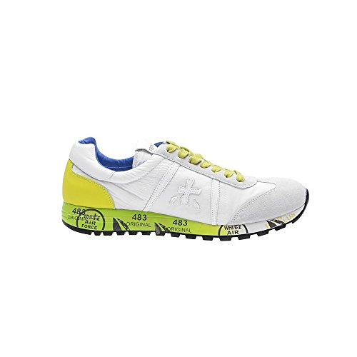 PREMIATA - Zapatillas de goma para hombre blanco Bianco/Giallo