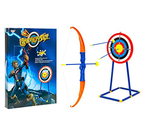 Safe Study Child Archery Toy Play Set w/Bow 3 Arrows Target Love Cute Gift Quick Arrive