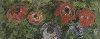 Oil Painting 'Claude Monet - Anemonies, 1885', 10 x 25 inch / 25 x 65 cm , on High Definition HD canvas prints is for Gifts And Bar, Hallway And Home Office Decoration, pics