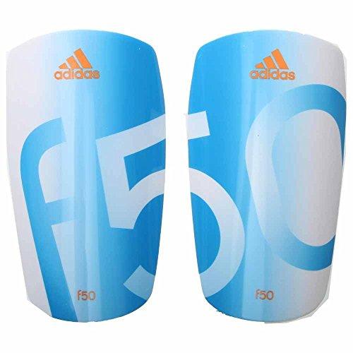 adidas Performance F50 Lesto Shin Guard, White/Solar Blue/Solar Zest Orange, Large ()