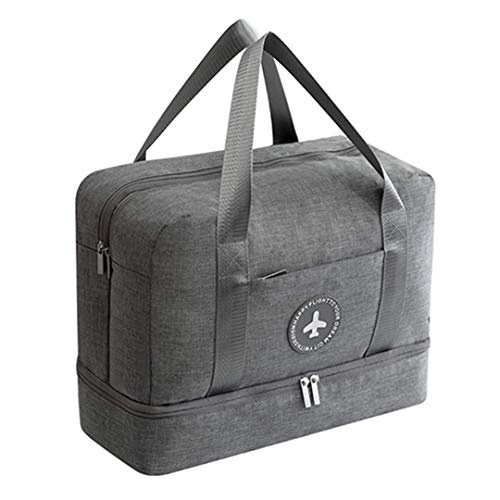 TRAV&DUFFLGGS Travel Bags Two Layers Clothes Shoes Pouch Luggage Packaging Cube Organizer Accessories Gray Travel Bag from TRAV&DUFFLGGS