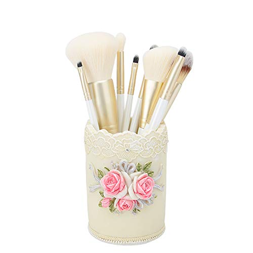 ZZC Makeup Brush Set, Beginner 10 Full Makeup Tools Makeup Bucket for Beginner Makeup,C