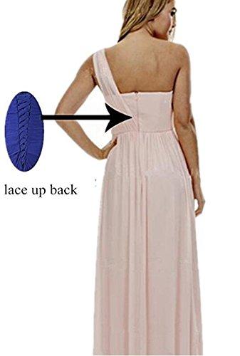Asymmetric Prom Girl Long Gown Future Fusia Women's Shoulder Bridesmaid Dress Evening One 0qH8ndxp