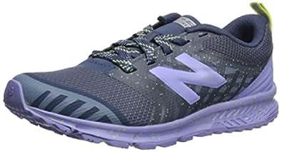 New Balance Girls' Nitrel v3 Trail Running Shoe, Vintage Indigo/ice Violet, 1 M US Little Kid