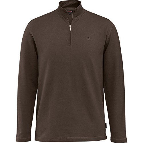 Wolverine Men's Big and Tall Benton Sueded French Terry Quarter Zip Shirt, Bison, - Clothing French Men's Quarter