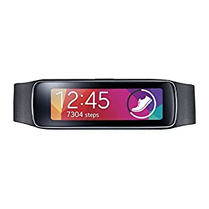 Samsung Gear Fit Fitness Watch with Heart Rate Monitor - Black (Renewed)