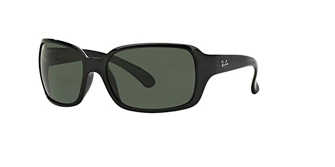ea37d11233 Amazon.com  Ray-Ban RB4068 601 60M Black Green Crystal Sunglasses ...