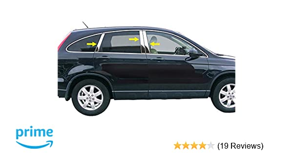 TYGER Fits 07-2011 Honda CRV 4PC Stainless Steel Chrome Pillar Post Trim