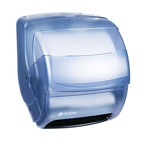 - San Jamar T850TBL Integra Level Roll Wall Towel Dispenser - Wide Roll, Arctic Blue