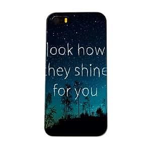 TY-Patrón Escena del cielo nocturno Caja dura de la PC para el iPhone 5/5S