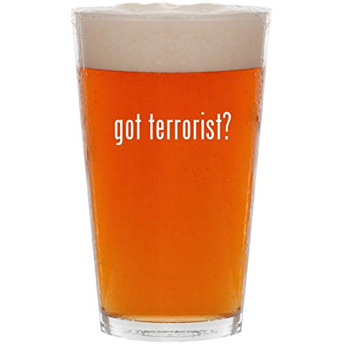 got terrorist? - 16oz All Purpose Pint Beer Glass]()