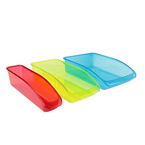 Easy Make kb56193/Web Plastic Storage Fridge X3–Red/Gr
