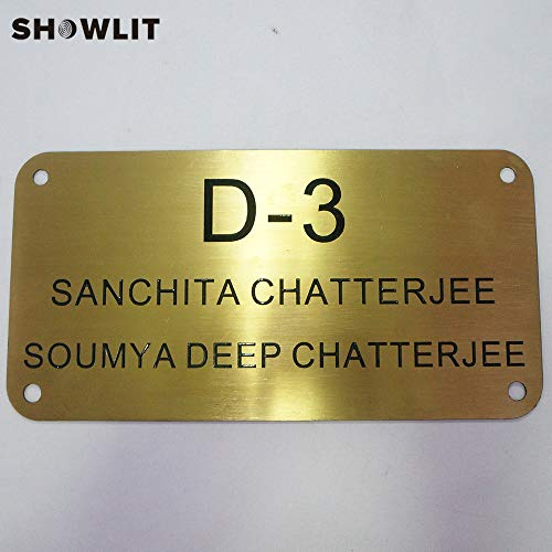 [해외]Showlit 2mm Thickness Golden House Sign A4 Size Door Plaques Emboss Effect Custom / Showlit 2mm Thickness Golden House Sign A4 Size Door Plaques Emboss Effect Custom