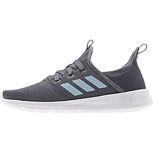 adidas Women's Cloudfoam Pure Running Shoe, Onix/Ash Grey/Shock Pink, 8 Medium US